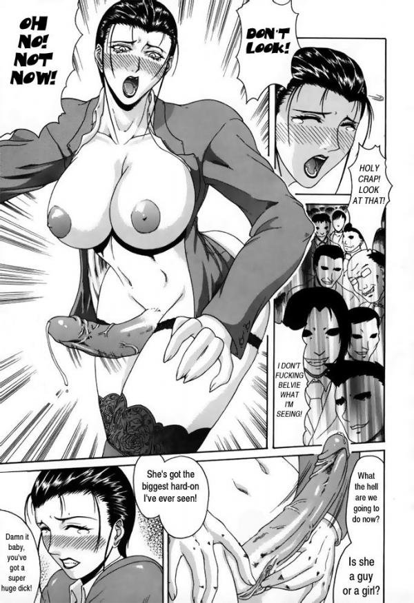 anime shemale sex one girl liking it - Busty Hentai Shemale Suck and Hand Job Dicks Until Cum Out